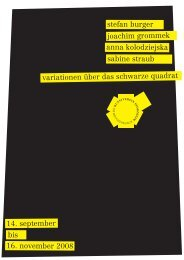 Flyer - Kunstverein Pforzheim im Reuchlinhaus eV