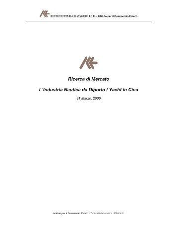 Ricerca di Mercato L'Industria Nautica da Diporto ... - Nautic Italy
