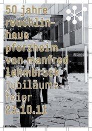 50 jahre reuchlin - Kunstverein Pforzheim im Reuchlinhaus eV