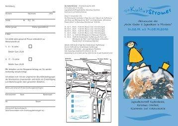 Die KulturStromer – Ferienkulturwoche 2010 - Kunstverein ...