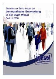Statistischer Bericht über die demografische Entwicklung in ... - Wesel