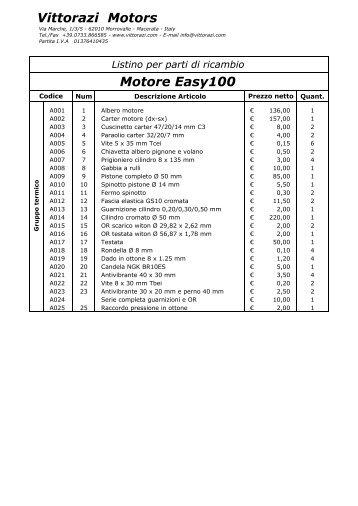 Vittorazi Motors Motore Easy100 - Manchester Paragliders