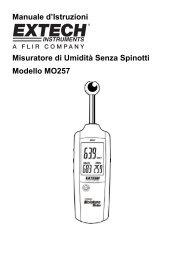 Manuale d'Istruzioni Misuratore di Umidità Senza Spinotti Modello ...