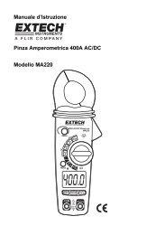 Manuale d'Istruzione Pinza Amperometrica 400A AC/DC Modello ...