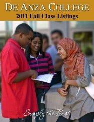 Fall 2011 - De Anza College
