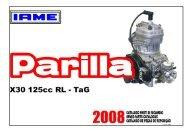 Catalogo Motor IAME-Parilla X30 - 03 07 08 - IAME Brasil