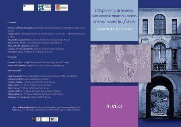 Invito - Soprintendenza Archivistica per l'Abruzzo - Pescara