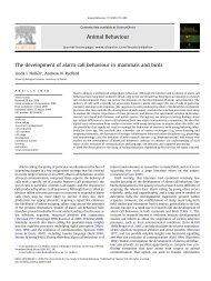 The development of alarm call behaviour in mammals and birds