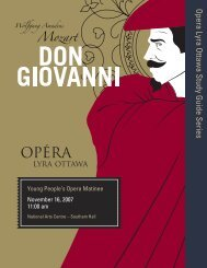 Don Giovanni - Opera Lyra Ottawa