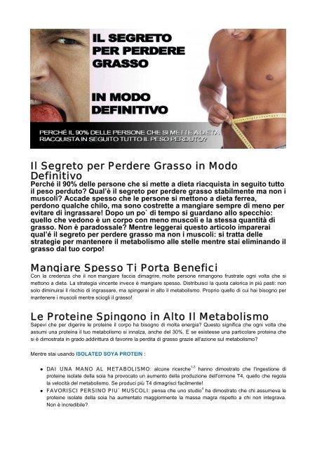 dieta per perdere grasso e mantenere la massa muscolare