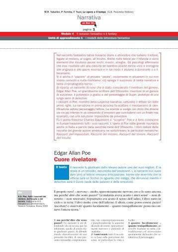 Narrativa Cuore rivelatore - Palumbo Editore