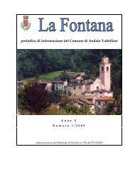 anno 2009 numero 1 - Comune di Andalo Valtellino