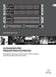 ULTRAGRAPH PRO FBQ6200/FBQ3102/FBQ1502 - Behringer