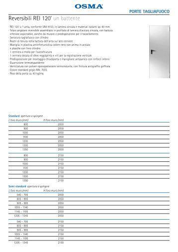 Reversibili REI 120' un battente - Porte basculanti per garage Osma