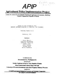 APIP Agricultural Policy Implementation Project
