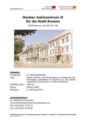 Neubau Justizzentrum II für die Stadt Bremen - Weser-Wohnbau