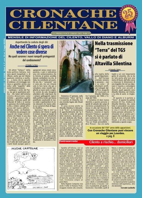 Febbraio 2008 - Cronache Cilentane