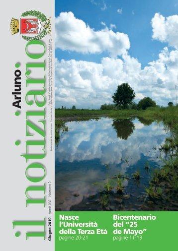 Notiziario giugno 2010 - Comune di Arluno