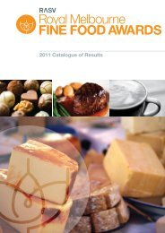 2011 Catalogue of Results - Royal Agricultural Society of Victoria
