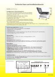 Technische Daten und Installationshinweise