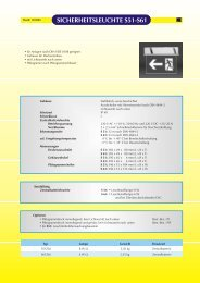 SICHERHEITSLEUCHTE S51-S61