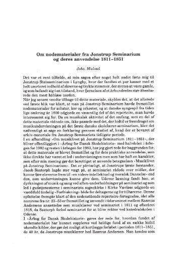 Om nodematerialer fra Jonstrup Seminarium og deres ... - dym.dk