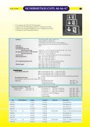 SICHERHEITSLEUCHTE A0-A6-A7
