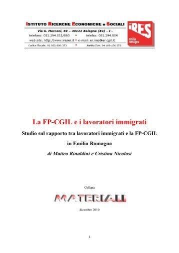 la ricerca ires - CGIL Modena
