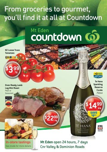 From groceries to gourmet, you'll find it at all at Countdown $2299