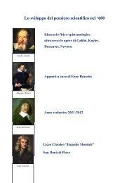 Fisica e astronomia nel 1600 - Galilei e Kepler