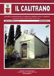 periodico quadrimestrale di ambiente, dialetto, storia e ... - Il Calitrano