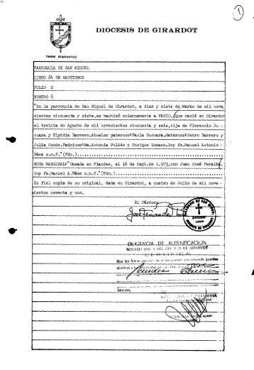 Page 1 TIMBRE ECLESIASTICO DIOCESIS DE GIRA RDOT ...