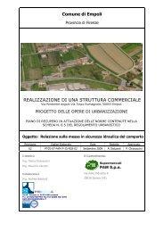 Relazione messa sicurezza idraulica - Comune di Empoli