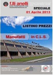 Manufatti SPECIALI Listino APRILE 2013 - F.lli Anelli S.n.c.
