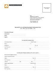 Richiesta di Autorizzazione Paesaggistica - Modulo in formato PDF.