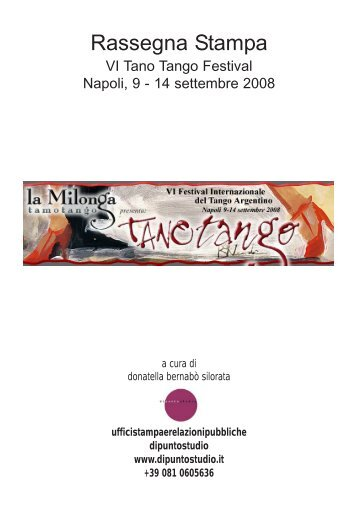 Download Rassegna stampa del festival - file 20 Mb pdf - Tamotango