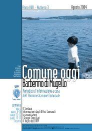 Agosto 2004 - Comune di Barberino di Mugello