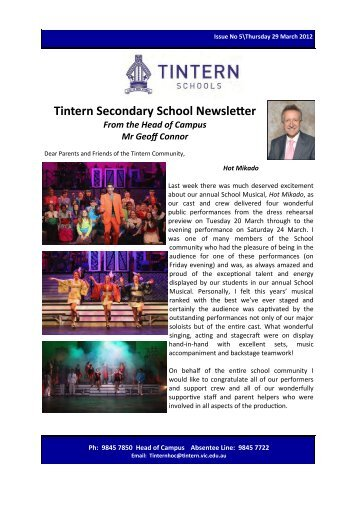 Tintern Secondary School Newsletter - Tintern Schools