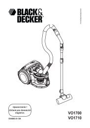 VO1700 VO1710 - Service - Black & Decker