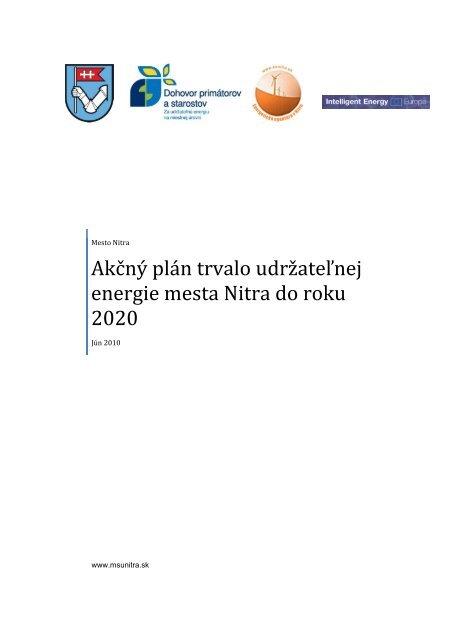 Akčný plán trvalo udržateľnej energie mesta Nitra do roku 2020