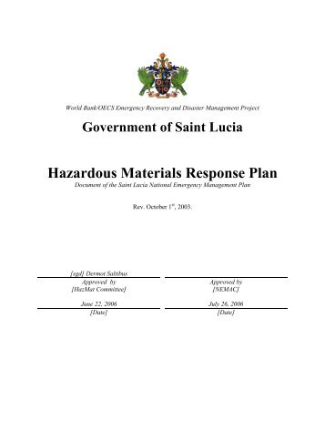 a report on hazardous material response plan Hazardous materials emergency response plan section xi: risk assessment for facilities reporting hazardous substances (hs) page 1 revised: 07/01.