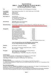 Ausschreibung EWU C – Turnier Bergkamen am 20./21.08.2011 mit ...