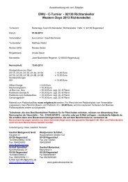 EWU - C-Turnier - 92138 Richterskeller Western ... - Wittelsbuerger