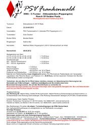 Ausschreibung: C-Turnier in Bamberg-Gaustadt am ... - Wittelsbuerger