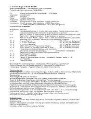 C - Turnier in Riegel am 05.-06. Mai 2006 Wertungsturnier für BaWü ...