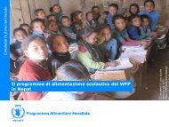 Il programma di alimentazione scolastica del WFP in ... - Golf Around