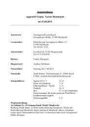 Ausschreibung Jugend-D-Trophy Turnier Nümbrecht am 31.08.2013 ...