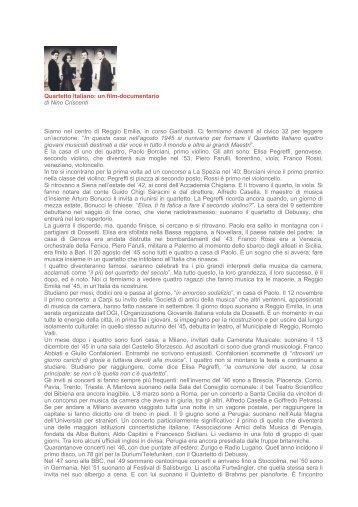 Quartetto Italiano: un film documentario di Nino Criscenti Siamo nel ...