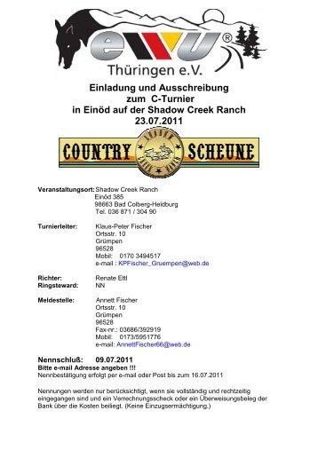 Einladung und Ausschreibung zum C-Turnier in Einöd auf der ...