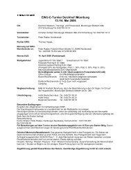 EWU C Turnier Deichhof /Moorburg 13./14. Mai 2006